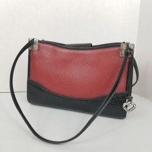 Vintage Brighton Leather Handbag Red & Black